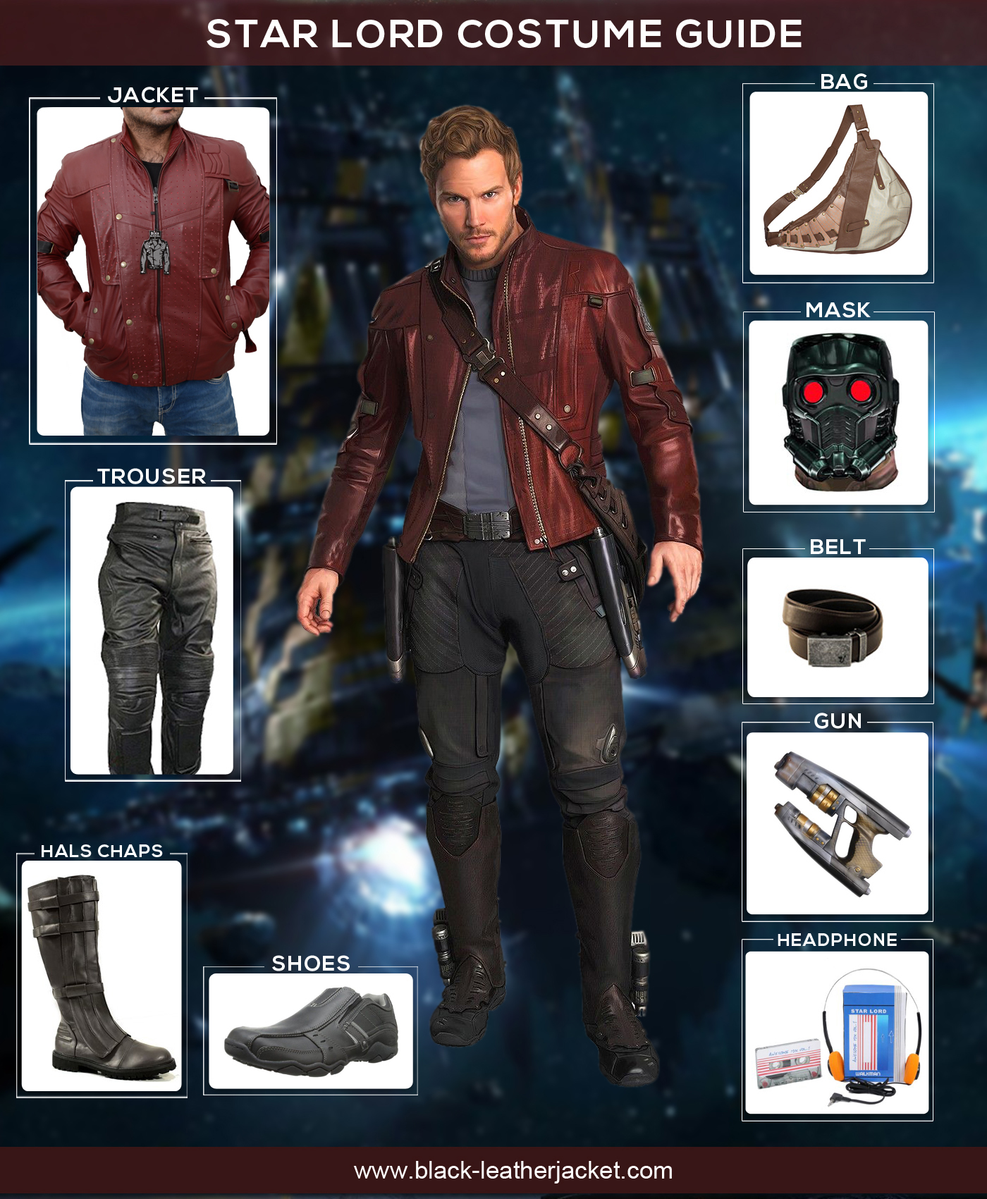 star lord costume guide